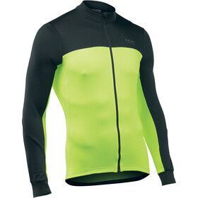 Northwave Force 2 Langermede Sykkeltrøyer Herre black/yellow fluo